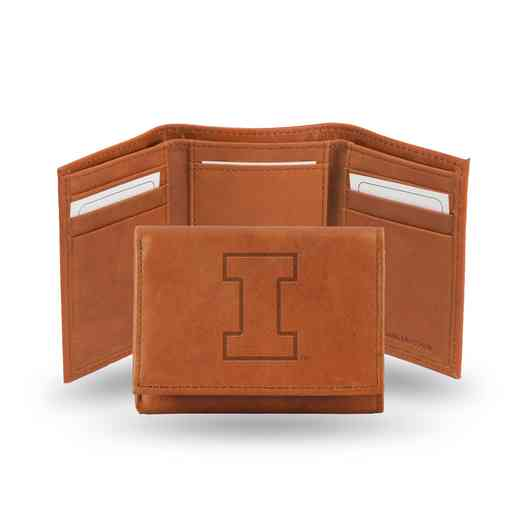 STR400102: NCAA STR Trifold Wallet, Illinois